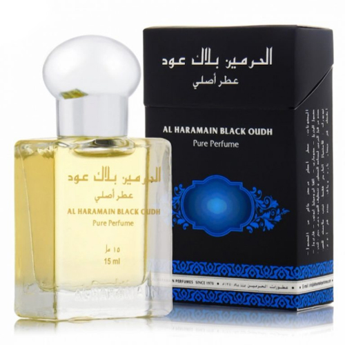 Black Oudh Roll-on Perfume Oil 15ml by Al Haramain