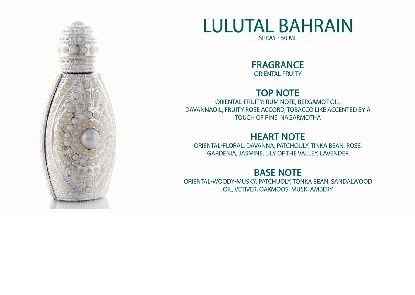 Lulatal Bahrain Spray Perfume 50ml by Asgharali